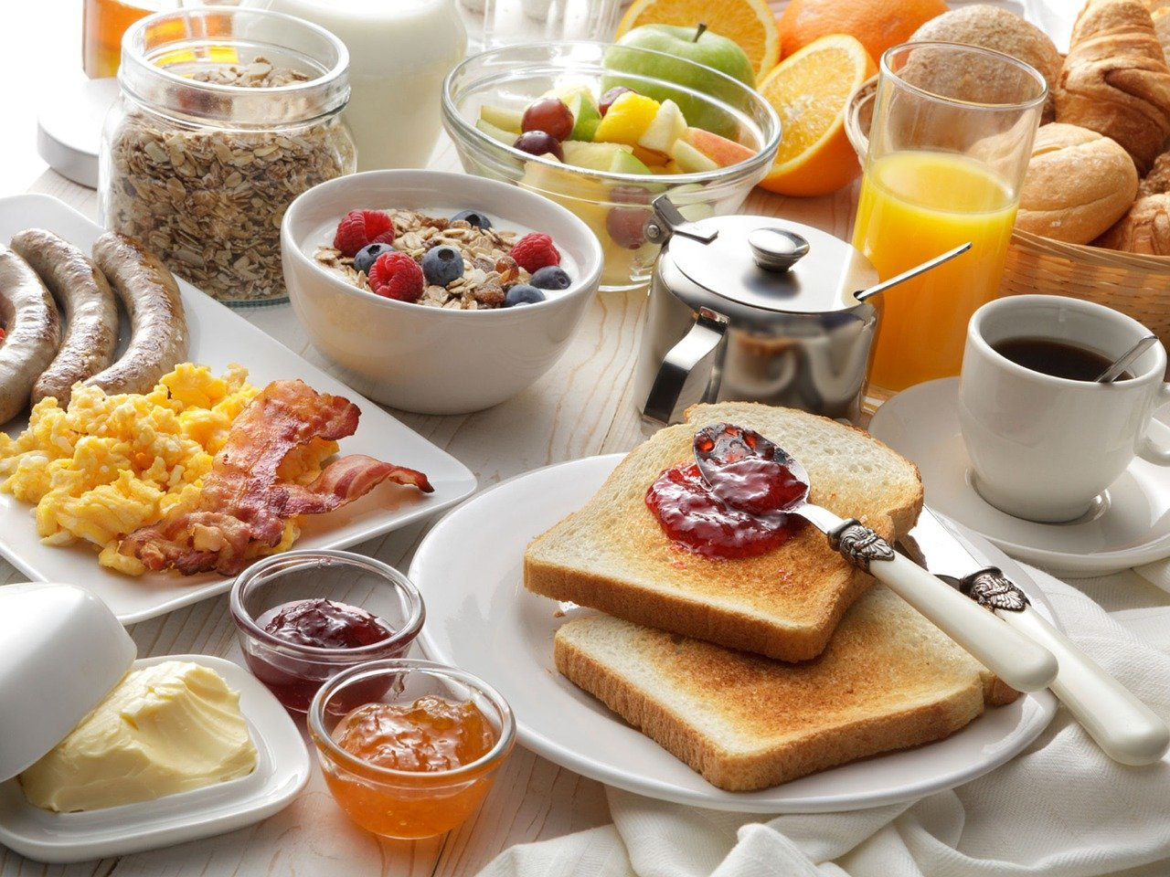 Ein leckeres Frühstück am Morgen - vertreibt Kummer und Sorgen!